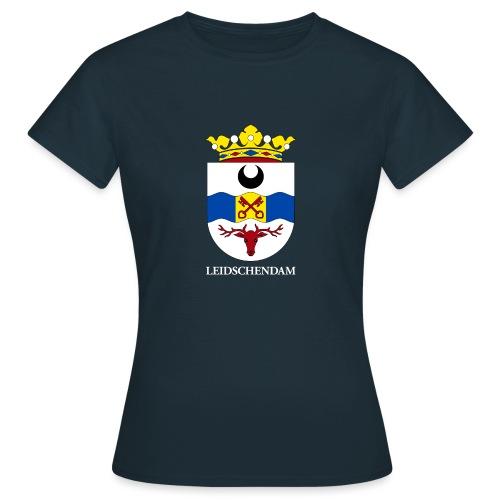 Leidschendam oude wapen witte tekst - Vrouwen T-shirt