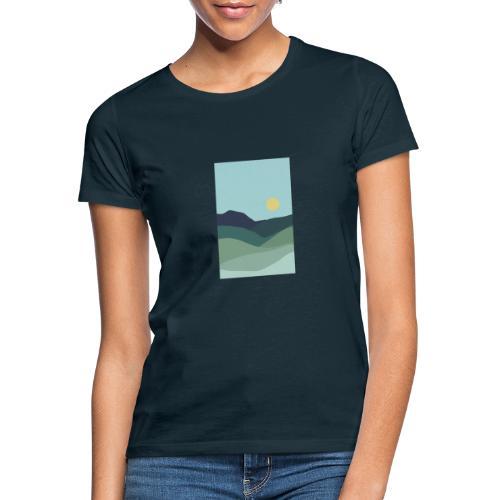 Sun over mountains - Dame-T-shirt