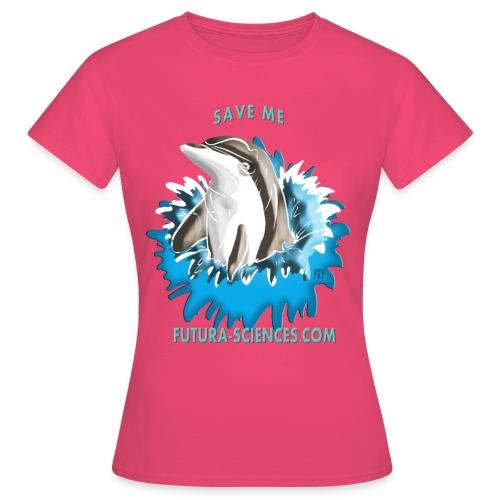 dauphin base 1 fs version 2 turquoise c - T-shirt Femme