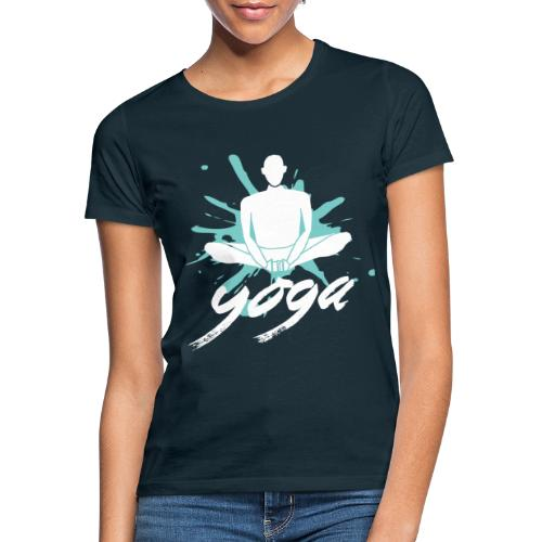 yoga blu yoga yogi namaste pace amore arte hippie - Maglietta da donna