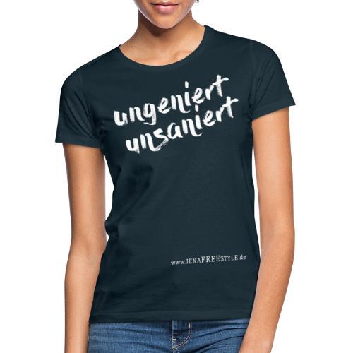 JFS_Claim_Front_dunkel - Frauen T-Shirt