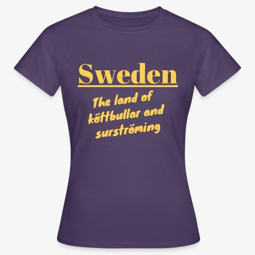 Landet av köttbullar - T-shirt dam