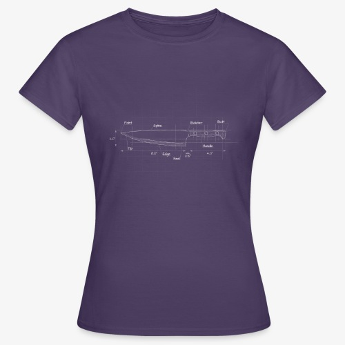 Cooks Knife Blueprint - Women's T-Shirt