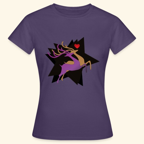 Couple Deer - Frauen T-Shirt
