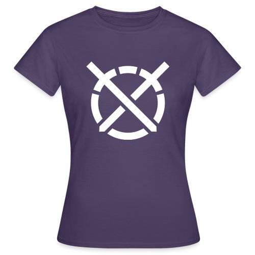 «Arte do Combate», simbolo em branco - Camiseta mujer