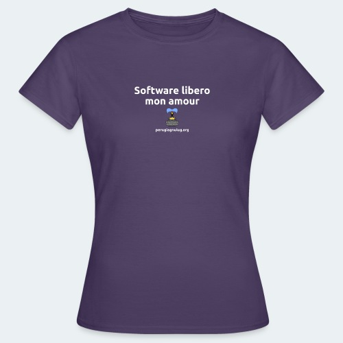 Software libero mon amour - Maglietta da donna