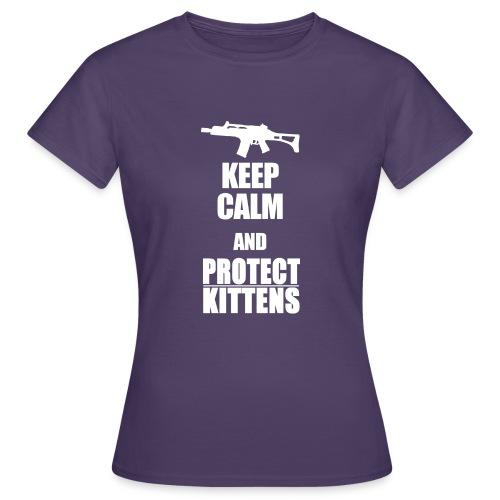 Keep Calm and Protect Kittens - Frauen T-Shirt