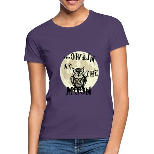 Owlin At The Moon - T-shirt dam