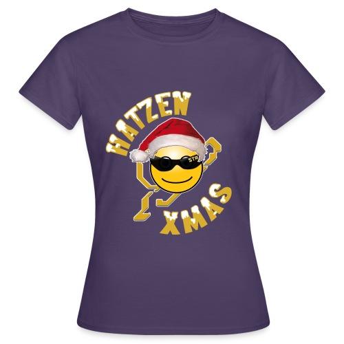 X Mas Hatze 2014 png - Frauen T-Shirt
