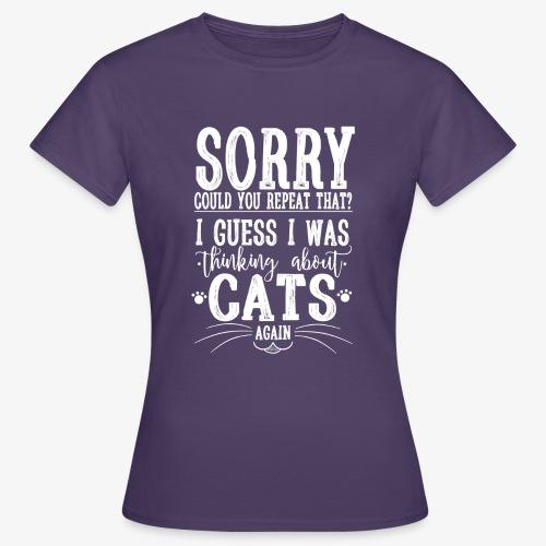 Sorry Cats II - Naisten t-paita