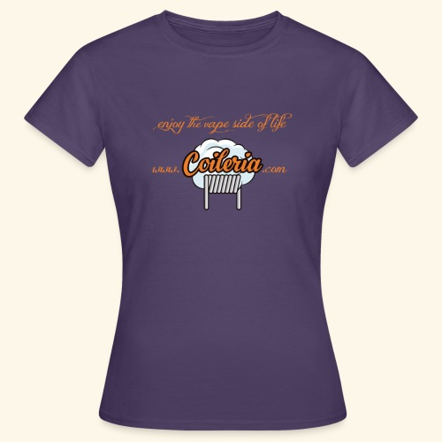 Coileria - enjoy the vape side of life - Frauen T-Shirt