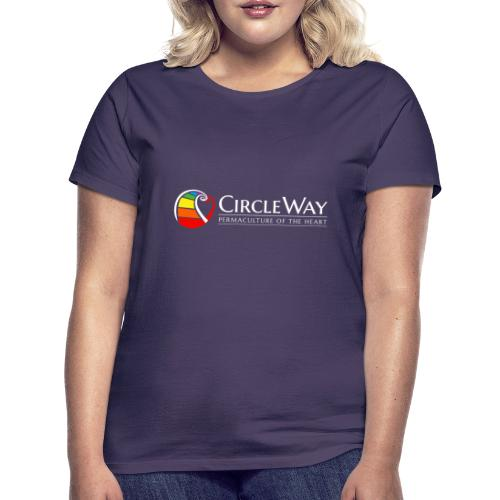 Circleway Permaculture of the heart Logo – weiß - Frauen T-Shirt