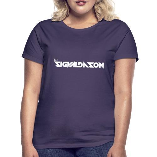 DJ logo hvid - Dame-T-shirt