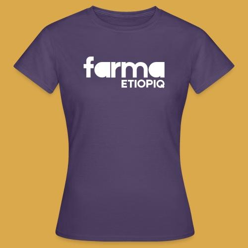 Farma Etiopiq straight logo - T-shirt dam