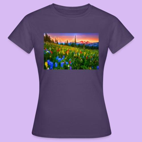 Bagliori in montagna - Maglietta da donna