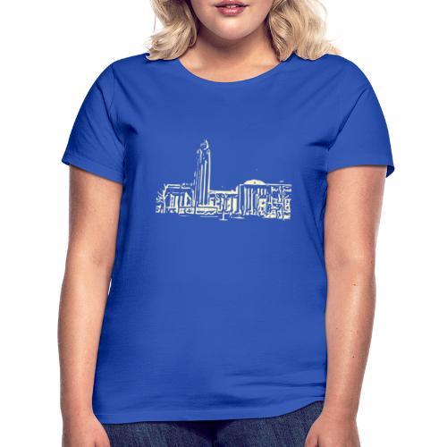 Helsinki railway station pattern trasparent beige - Women's T-Shirt
