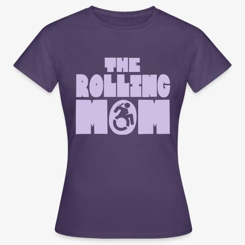 Rollende moeder in een rolstoel - Vrouwen T-shirt