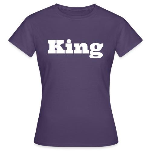 Snapback king zwart/grijs - Vrouwen T-shirt