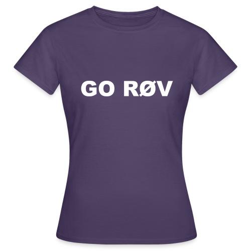 GO RØV - Dame-T-shirt