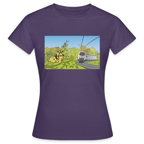 Raupe und Zug - Frauen T-Shirt
