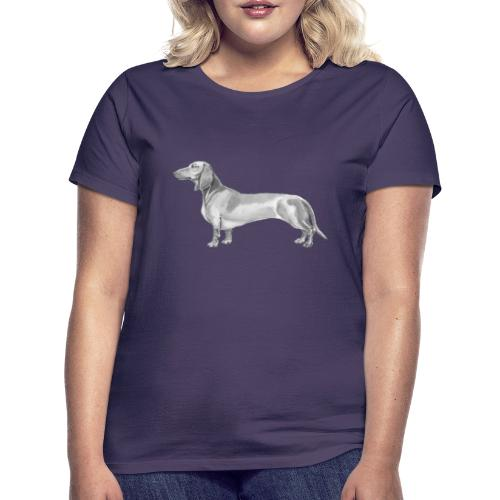 Dachshund smooth haired - Dame-T-shirt