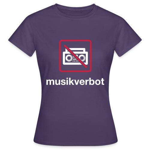 Musicverbot - Camiseta mujer