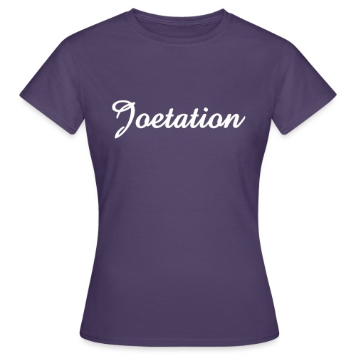 White Text Joetation Signature Brand - Women's T-Shirt