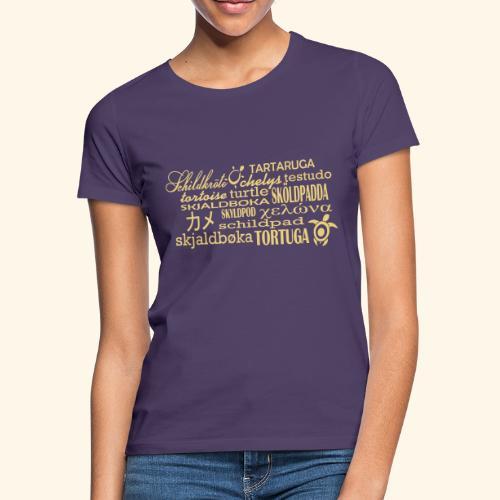 Schildkröte Sprachen Motiv - Frauen T-Shirt