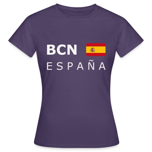 BCN ESPAÑA white-lettered 400 dpi - Women's T-Shirt