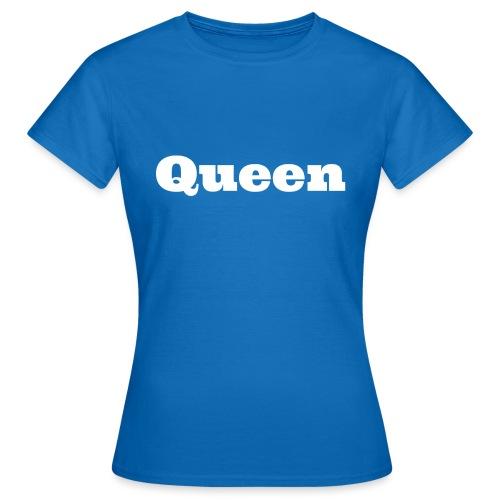 Snapback queen zwart/blauw - Vrouwen T-shirt