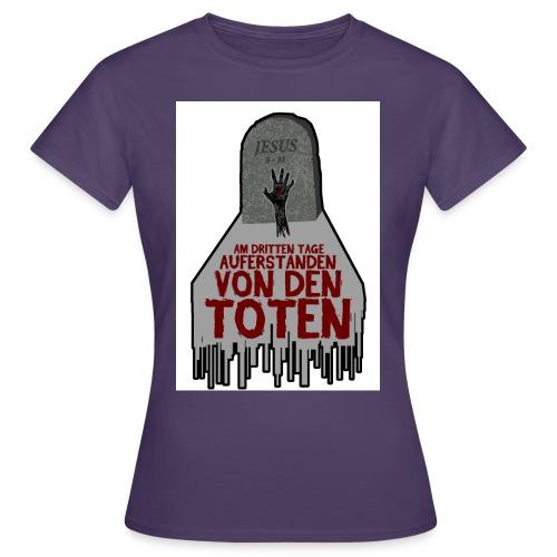 grab hand weiss jpg - Frauen T-Shirt