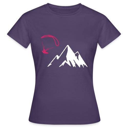 Libert'All parapente montagne fushia - T-shirt Femme