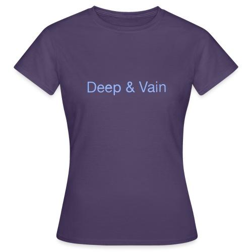 Deep&Vain Text Logo - Vrouwen T-shirt