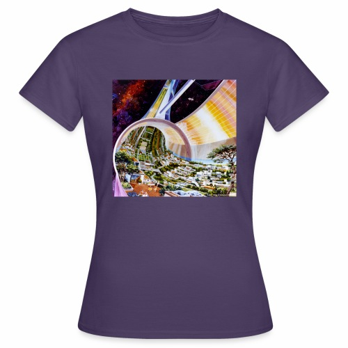 Toroidal Colonies - NASA space colony study - Women's T-Shirt