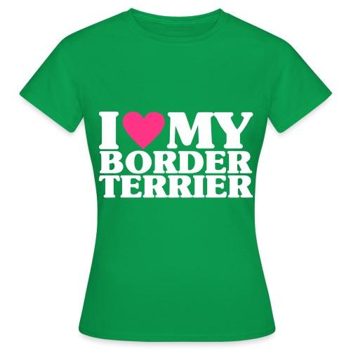 iheartmyborderterrier - Women's T-Shirt