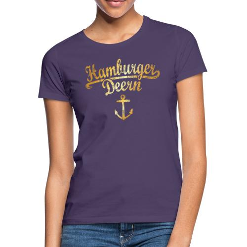 Hamburger Deern Klassik (Vintage Goldgelb) - Frauen T-Shirt