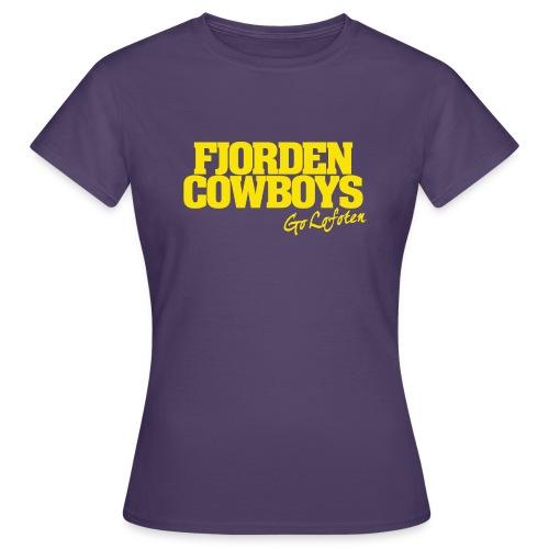 FJORDEN_COWBOYS_GO_LOFOTE - T-skjorte for kvinner