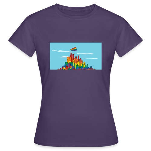 lgbtq town 1200x627 - Frauen T-Shirt