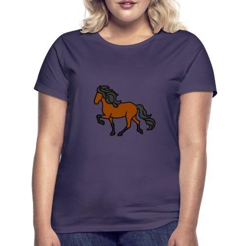 Islandpferd, Brauner, heller - Frauen T-Shirt