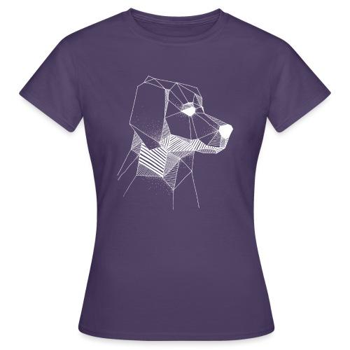 Golden Retriever Geometrisch Wit - Vrouwen T-shirt