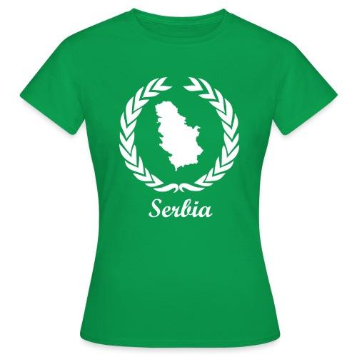 Connect ExYu Serbia White Edition - Frauen T-Shirt