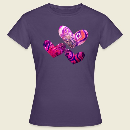 Traumhafte Herzen in pink - Frauen T-Shirt