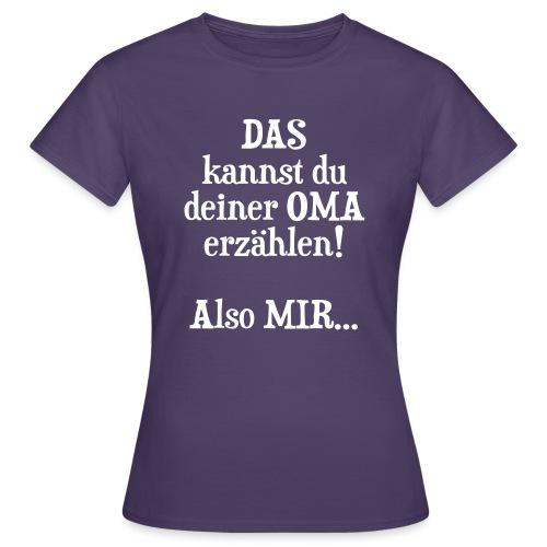 Oma Geburtstag Weihnachten Geschenk Enkel Spruch - Frauen T-Shirt