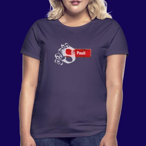 Hamburg -St.Pauli-Schild mit Schmuck-Initial - Frauen T-Shirt