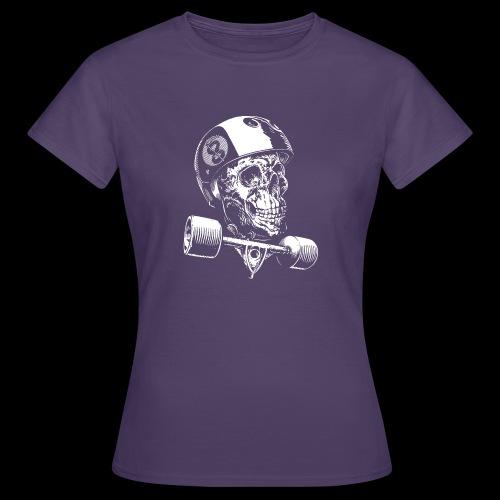 Skull Longboard Rider - negative print - T-shirt Femme