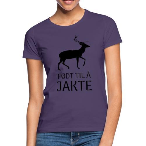 Motiv til jeger - T-skjorte for kvinner