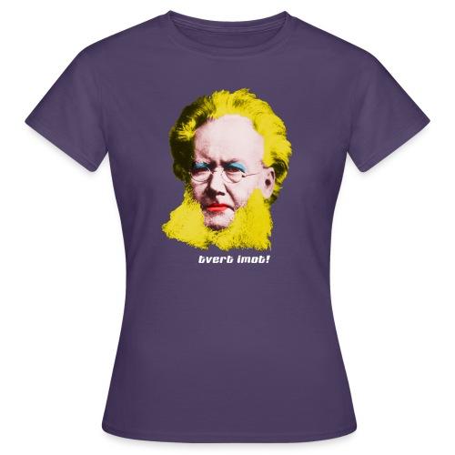 tvertimot - T-skjorte for kvinner