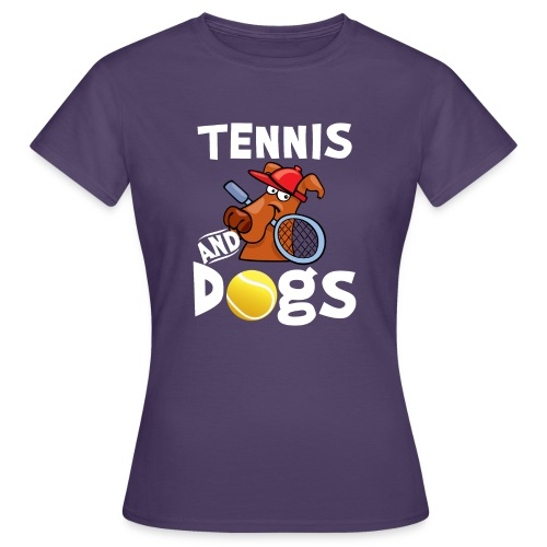 Tennis And Dogs Funny Sports Pets Animals Love - Frauen T-Shirt