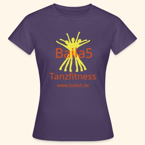 Baila5 Tanzfitness gelb - Frauen T-Shirt