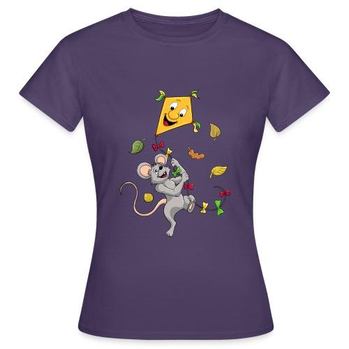 Maus mit Drachen im Herbst - Frauen T-Shirt